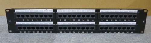 EXCEL 2U 48 Port black Patch Panel CAT6 Patch Panel 100-306